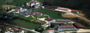 Photo aérienne du site des Organisations d'élevage de Ceyzériat